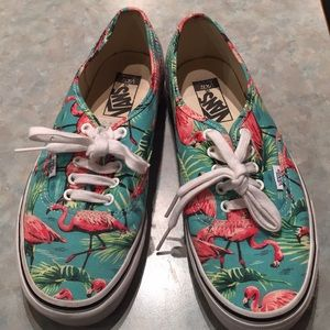 Vans flamingo pattern sneakers